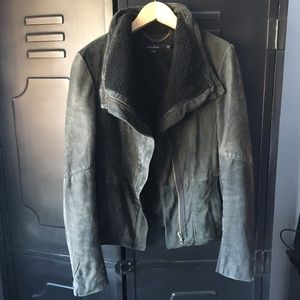 Muubaa Leather / Shearling Jacket, sz.4/6